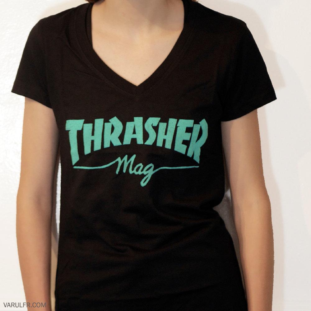 9d33417b0c89 Girls Thrasher Mag V-Neck T-Shirt