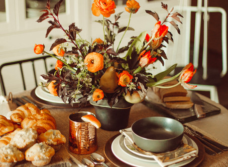 Fall Brunch Table Setting