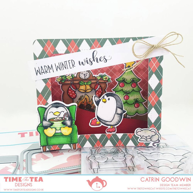 Christmas Penguins Clever Box - T4TD