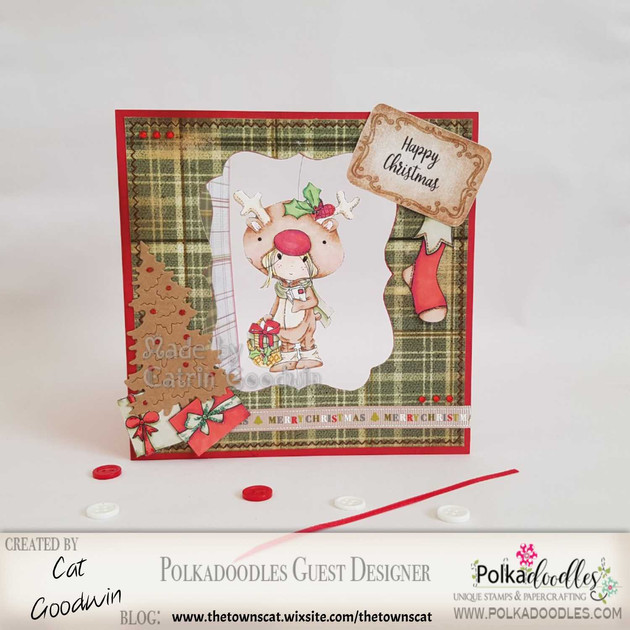 Polkadoodle Christmas Spinner Card