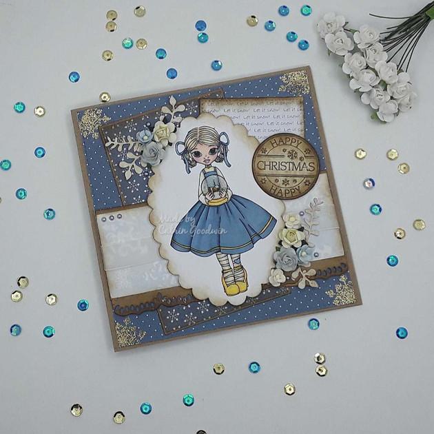 Snow Globe Girl - Cute as a Button