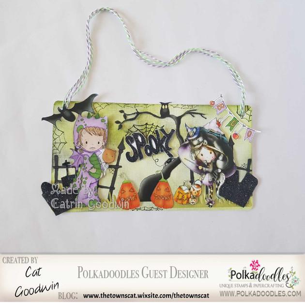 Polkadoodle Spooky Plaque