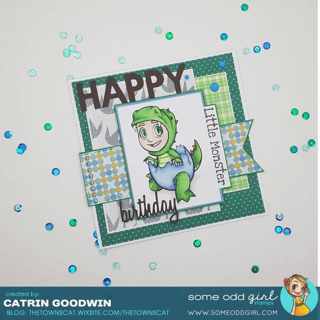 Little Monster Birthday Card - SOG