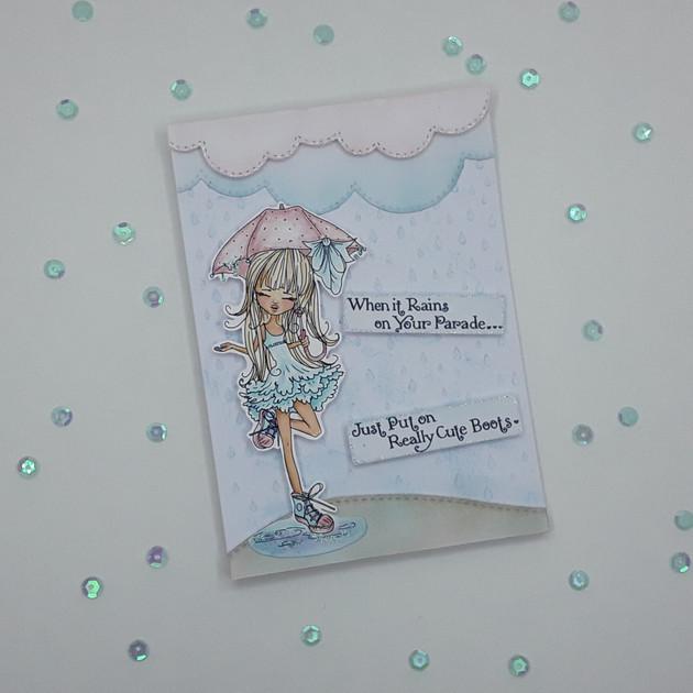 Polkadoodles - Ruby Raindrop