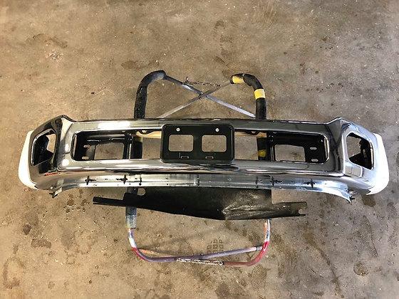 11-16 Ford F-450/550 Chrome Front Bumper White