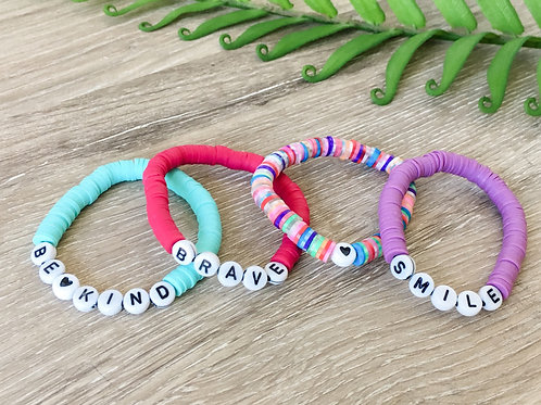 Lead By Example Vinyl Stretch Bracelets for Kids