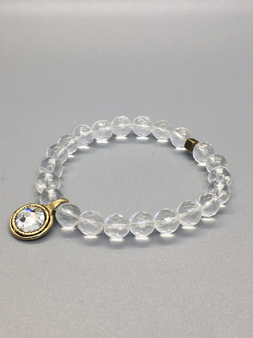 Harmony clear quartz beaded bracelet
