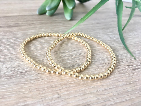 14k Gold Filled Stretchy Bracelet