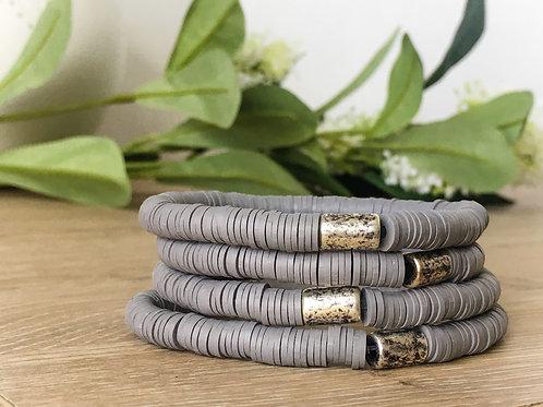 Gray Vinyl Bracelet