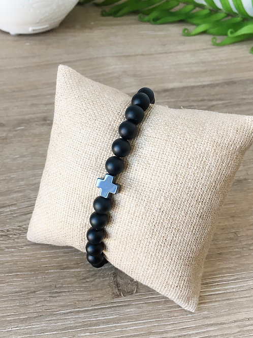 "Men's ""Faith"" Beaded Bracelet"