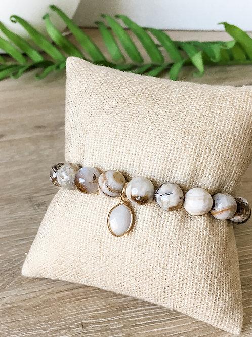 Opal Beaded Stretch Bracelet