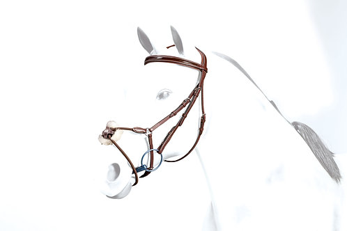 Bridle With Elastic Rolled Grakle