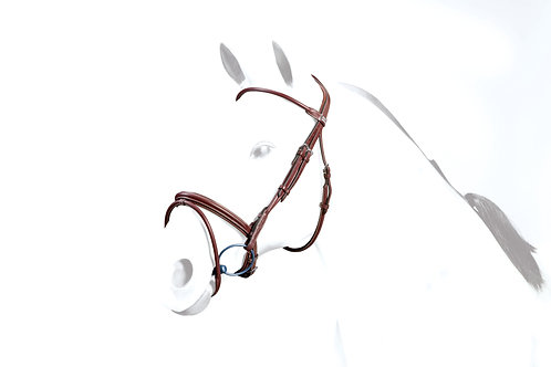 Leather Flash Rolled Bridle BR39