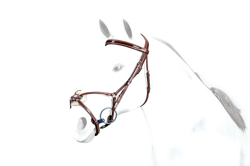 Grakle Bridle with Patent Leather Browband