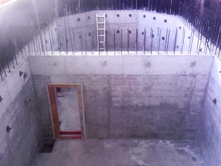 Concrete bunker vault