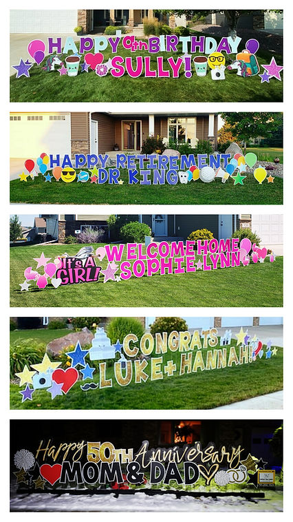 Lawn Letter displays