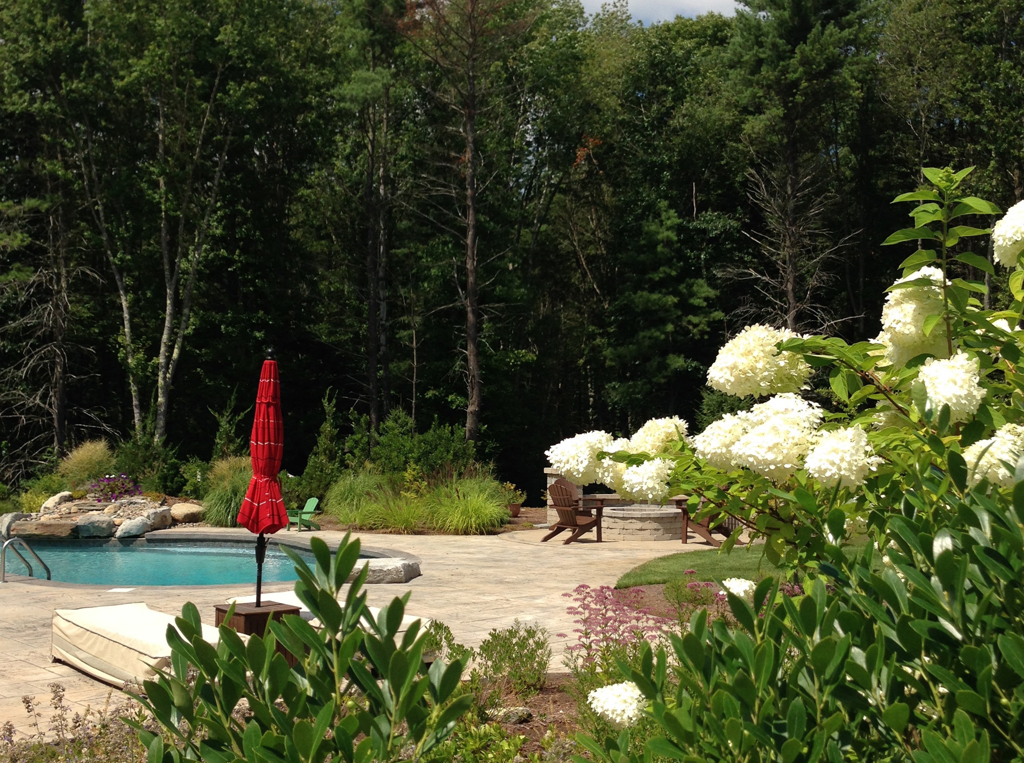 pool plantings in Lakeville, MA