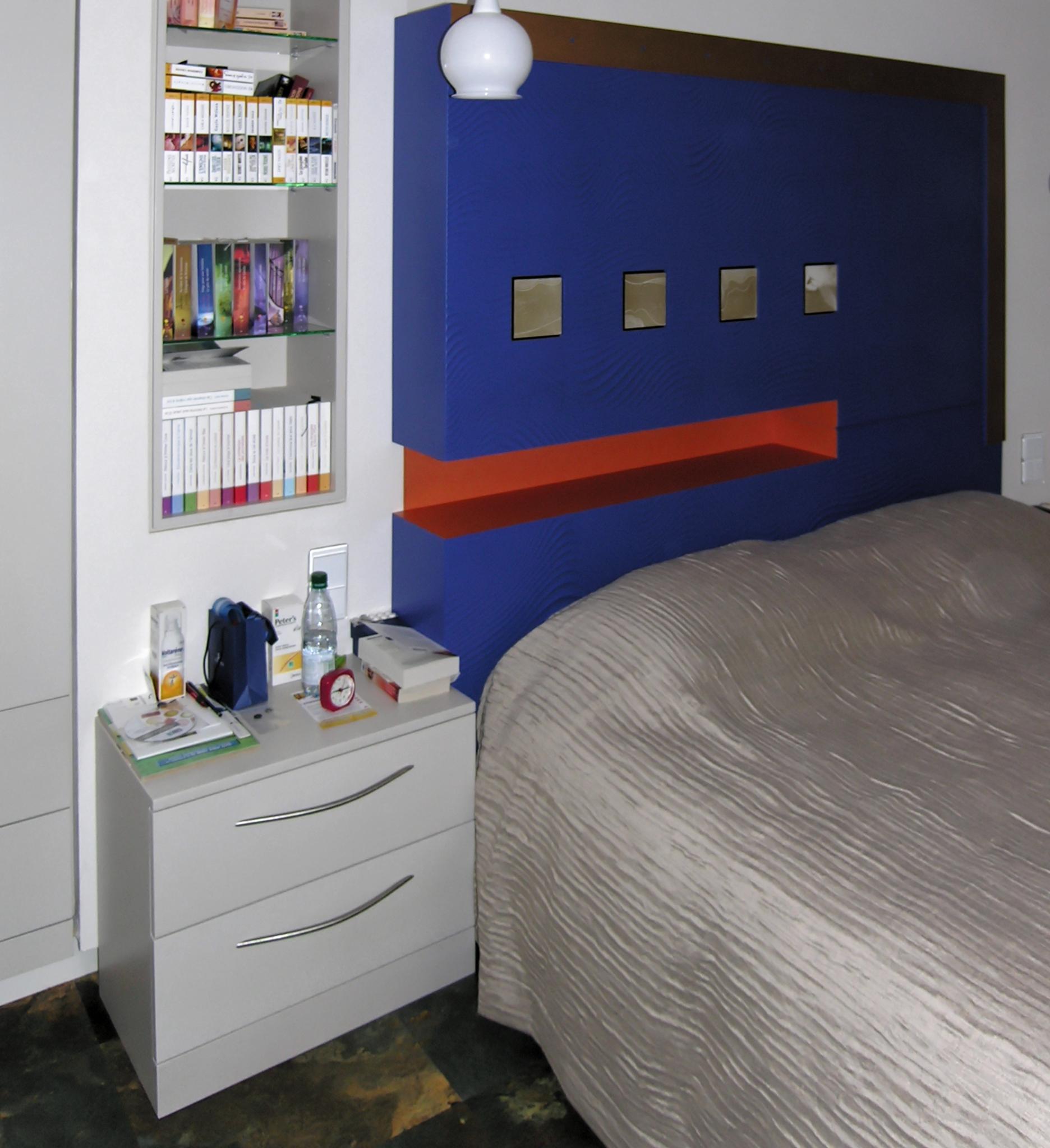 tête de lit colorée