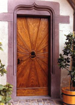 Porte d'entrée motif soleil
