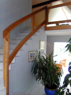 rampe bois et verre