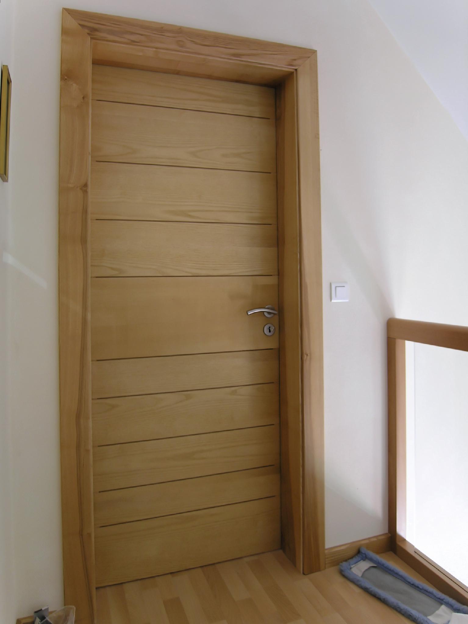 Porte frêne façon planches