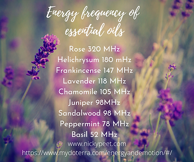 Frequency of essential oils Doterra