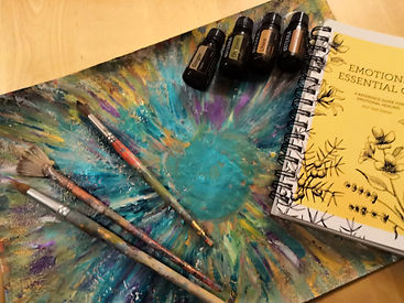 Intuitve painting with doterra oils