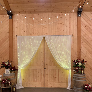 Rustic Barn Doors at Oak Hills Reception and Event Center