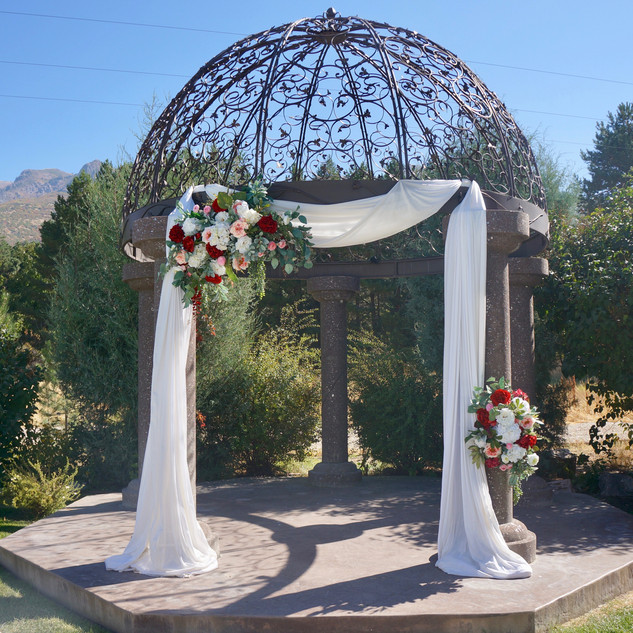 Floral Design on Ceremony Gazebo