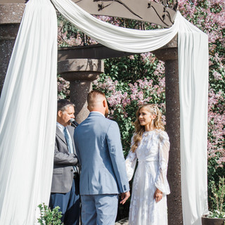 Ceremony Garden in the Spring at Oak Hills Reception and Event Center