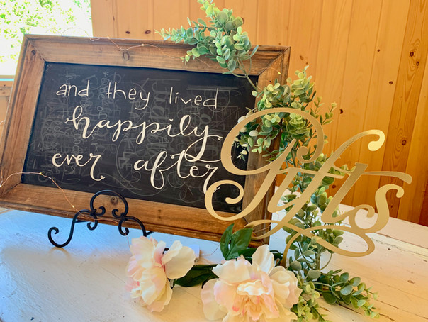 Chalkboard and Gifts Signs