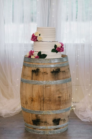 Barrel used for Cake Table