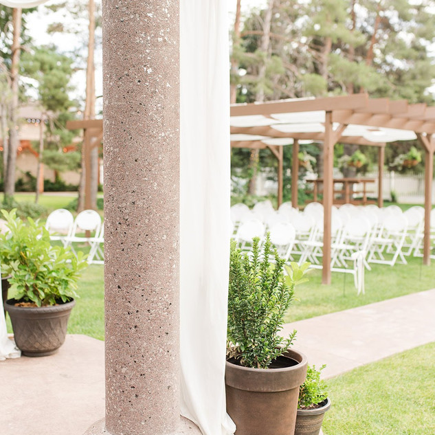 Ceremony Garden at Oak Hills Reception and Event Center