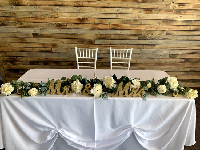 Sweetheart's Head Table at Oak Hills Reception and Event Center
