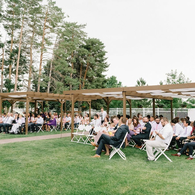 Ceremony guests at Oak Hills Reception and Event Center