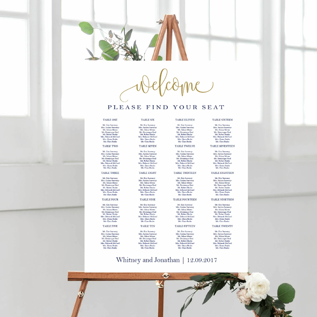 Poster seating chart