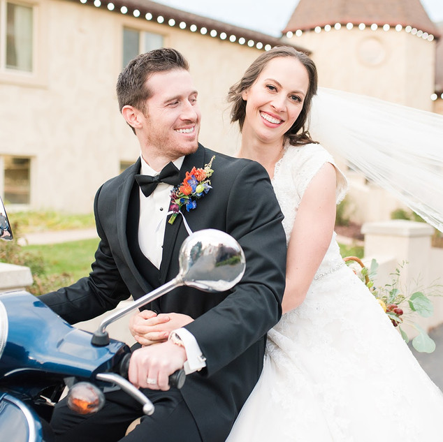 Vespa Wedding Send Off at Oak Hills Reception and Event Center