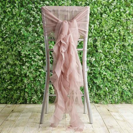 Ruffle Ceremony Chair Sash