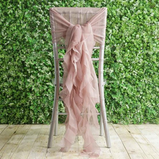 Ruffle chair sash