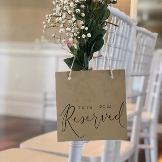 Reserved Ceremony Sign