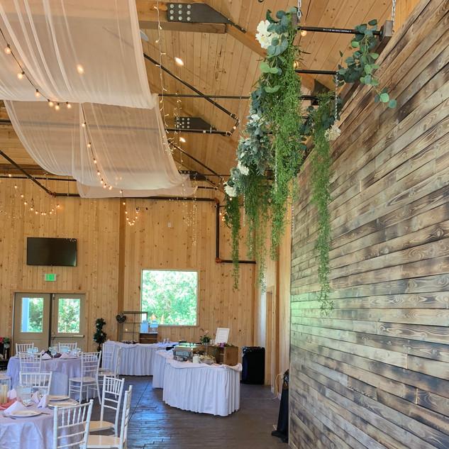 Ladder Overhang at Oak Hills Reception and Event Center