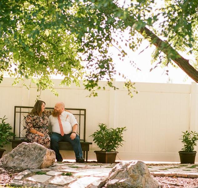 Sweetheart Bench in Ceremony Garden