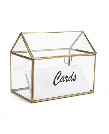 Glass Box Card Holder