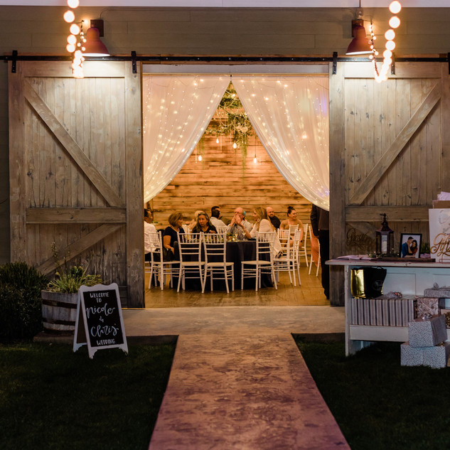 Barn Entrance at Oak Hills Reception and Event Center