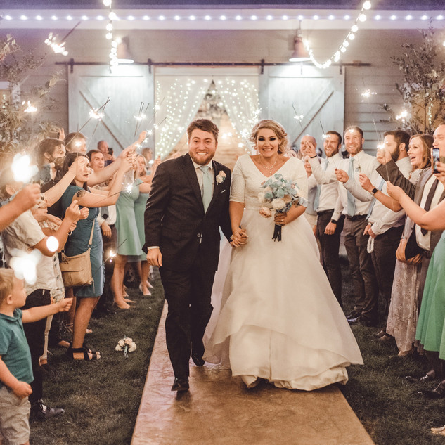 Newlywed Sendoff at Oak Hills Reception and Event Center