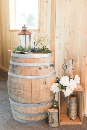 Barrel used for guestbook