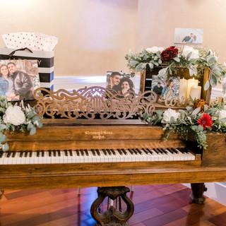 Antique Piano in Oak Hills Ballroom