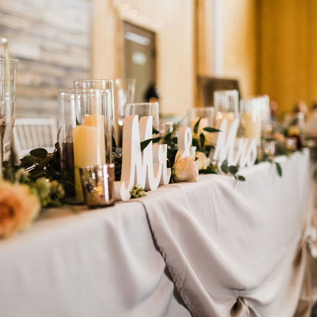 Oak Hills Reception and Event Center Head Table