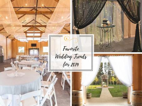 5 Favorite Wedding Trends of 2019