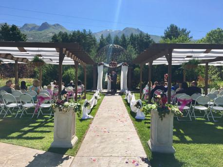 Column Decor with Fresh Greenery & Flowers